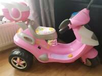 Childrens electric car - pink