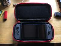 Nintendo Switch Bundle (case + joycon grips + tempered glass screen protector