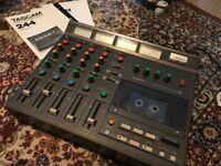 Tascam TEAC Portastudio 244 Analogue Recorder - 4-Track Cassette Tape Four Track