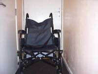 ONE FOLD UP BLACK WHEELCHAIR IN EXCELLENT CONDITION HAD ONLY ONE OWNER.