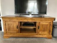 Solid Oak Large TV unit