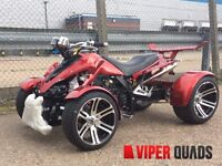 Viper 350 F1 SuperSnake,Wine Red, Road Legal Quad Bikes, Brand New 2016, Spyracing F1