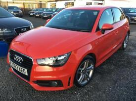 Audi A1 2.0 TDI S LINE 5dr + 1 OWNER + FULL SERVICE HISTORY (red) 2014