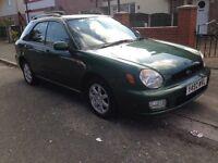 2001 Subaru Impreza 1.6TS Sport ,Green Sportwagon,12 Months MOT,AWD Option , Service History 2x keys