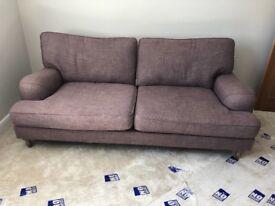 Marks and Spencer 3 seater sofa purple tweedy fabric