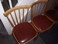 Retro Vintage set of four dining chairs - £35 for the set