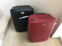 2 Samsonite suitcases Black & Red USED 8 years old. Collection E. Sussex Cash