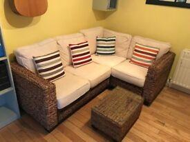Corner Sofa - Rattan