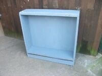 Cabinet blue 2 x shelves ideal shabby chic project delivery available £5