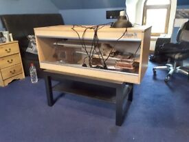 4ft vivarium with lights, equipment and table