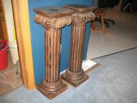 CARVED WOODEN PEDESTALS