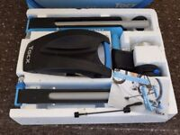 Tacx trainer, wheel riser and 700 x 23 training tyre.. Used 3 times boxed.