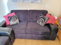 DFS 3 seater, 2 seater and footstool