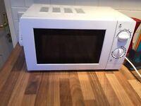 White microwave £30
