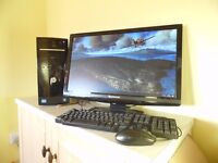 """HP Intel core i5 QUAD CORE desktop tower system with optional 24""""lcd monitor"""