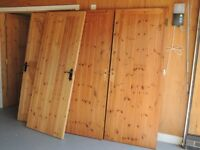 Wooden framed ledged and braced internal doors