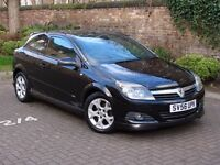 EXCELLENT LOOKS!!! BLACK 2006 VAUXHALL ASTRA 1.6 i 16v SXI SPORT 3dr, LONG MOT, PANORAMIC WINDSCREEN