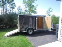 Like New! 2013 Cargo Mate 5'x11' V Nose, Rear Ramp trailer