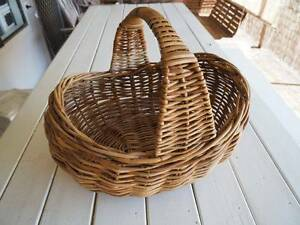 Vintage retro cane carry basket with handle Buderim Maroochydore Area Preview