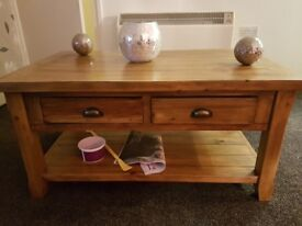Coffee table & 2 lamp tables