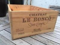 Wooden Wine Box/Crate (12 Bottles) Ideal Upcycle/Chic Project. More Available