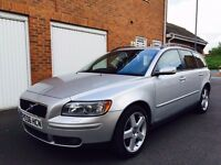 2006 06 Volvo V50 Estate 2.0 D Turbo Diesel++Full MOT++FULL LEATHER++FSH not mondeo s40 s60 d5 a4
