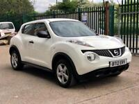 Quick Sale 2012 White Nissan Juke Visia 1.6 Petrol 86k miles 1 Owner New Service done drive perfect
