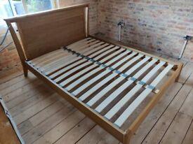 Oak King Size Bed For Sale