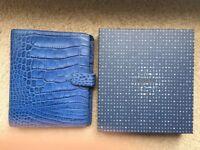 Filofax Classic CROC A5 Organiser Italian Calf Leather Blue