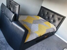 King-size Leather TV bed for sale