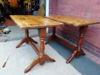 2 x wooden tables