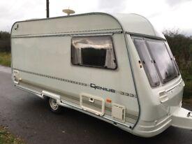 2 Birth Lightweight Touring Caravan, Shower & Cassette Flush Toilet