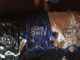 Set of free large men's premier league champions Leicester shirts