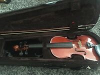 Violin, Case, Bow, Rosin and Shoulder Rest