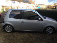Seat Arosa, silver, lowered, Remus exhaust