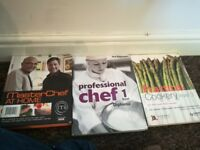Proffesional Cookery books level 1 + 3 plus masterchef bag