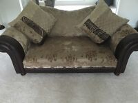 3 piece sofa set and foot stool