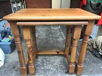 PROJECT nest 2 pine tables FREE DELIVERY PLYMOUTH AREA