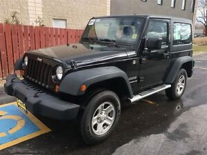 2011 Jeep Wrangler Sport, Manual, Hard Top, 4x4, Only 75,000km