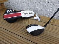 Taylor Made M1 Driver 10.5° with headcover & adjustment tool. Upgraded Kuro Kage Stiff Shaft.