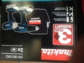 Bargain makita 18v brand new twin pack