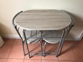 Small dining table - wooden. Ideal for small kitchen.