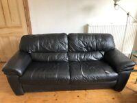 Free leather 3-seater sofa