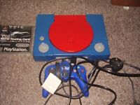 playstation 1 custom made with game full set up