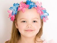 100 x FLOWER PARTY FANCY DRESS HEAD CROWNS