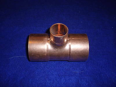 2 X 1 Copper Tee Wrot Copper Reducing Tee Fits 2-18 Od X 1-18 Od Pipes