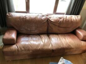 Brown Leather Sofa - FREE OF CHARGE