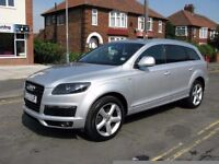 *AUDI Q7 3.0TDI QUATTRO S LINE *7 SEATER* CHEAPEST IN UK LIKE X5 ML XC90 TOUAREG A4 A6 A8 530D 330D
