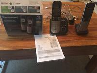 Panasonic KX-TG6822 Digital Cordless Phone / Answering System - VGC - 2 handsets