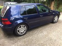 vw golf mk 4,1999,blue,lowered,alloys,tinted windows,drives well,£250,no offers